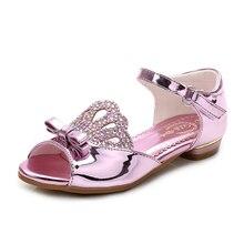 Girls Dancing Shoes Fashion Children Sandals Rhinestone Bow Crown Princess Elegent Dress Shoes Girls Toddler Girls Party Shoes