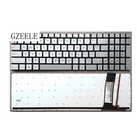 US New Keyboard FOR ASUS N56VV N76 N76V N76S Q550L N750 N550J Replace laptop keyboard English Silver with backlight