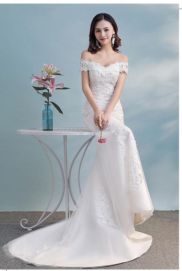 Винтажные женские платья свадебное платье с аппликацией в виде поезда, Модные Новые свадебные платья свадебное платье W0326