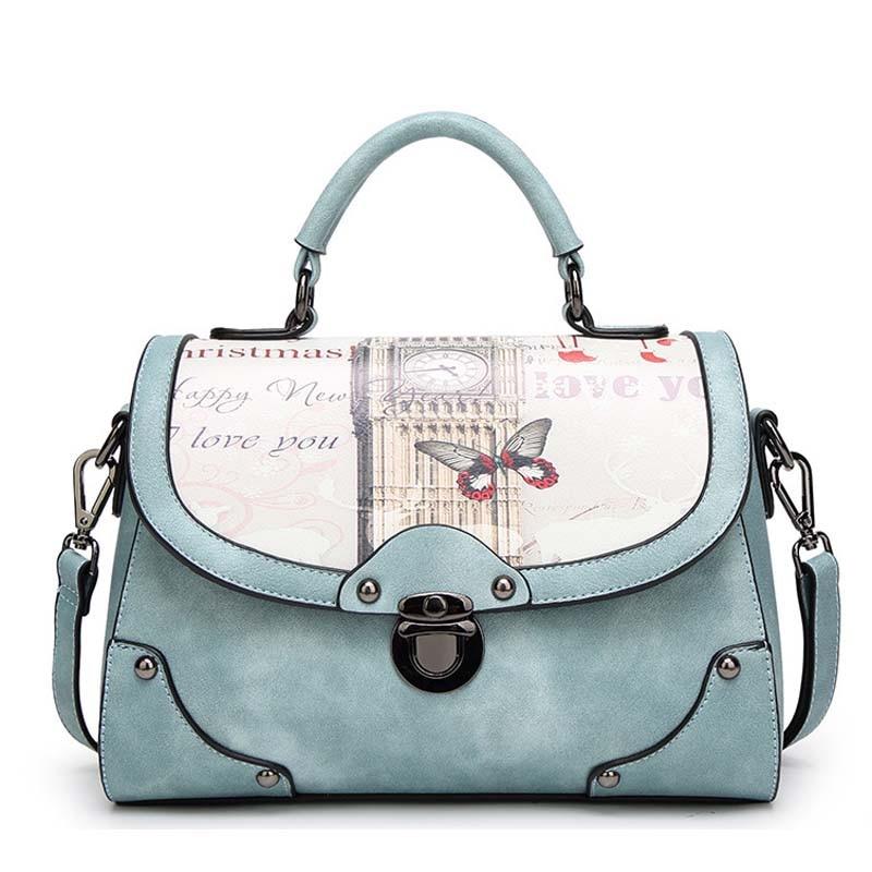купить 2018 New fashion women shoulder bag pu leather handbags fresh lady Casual Tote crossbody Flower Pattern Messenger Bags по цене 3829.62 рублей