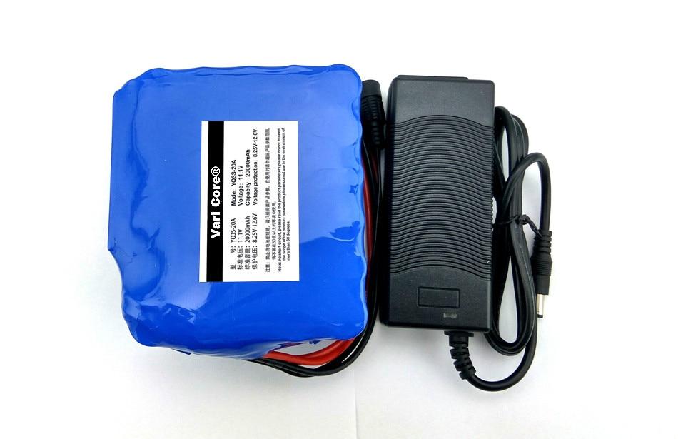 12 v 20000 mah 18650 batterie au lithium lampe Minière Décharge 20A 240 w lampe Au Xénon batterie avec PCB + 12.6 v Polymère Chargeur