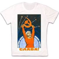 0be7d3ea Soviet Space Astronaut Propaganda Retro Vintage Hipster Unisex T Shirt 1022  Comfortable T Shirt Casual Short