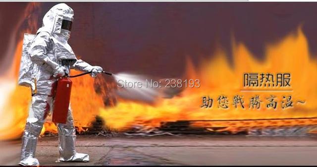 500'C 932 'F ropa de lucha contra incendios, ropa a prueba de fuego, la radiación térmica trajes de protección, ropa de protección de alta temperatura
