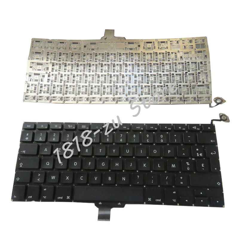 Yaluzu Baru French Keyboard Laptop 2009-2012 untuk Apple MacBook Pro A1278 MC700 MC724 MD313 MD314 FR Penggantian Keyboard hitam