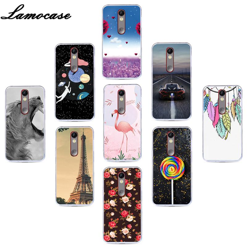 Lamocase Silicone Patterned Phone Case For Motorola Moto X Force XT1585 XT1581 Droid Turbo 2 Cartoon Fashion Back Cover Cases image