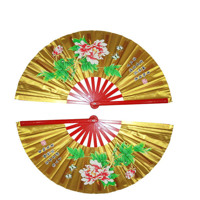 Кунг-фу Вентилятор Тай Чи двойной вентилятор занятий из бамбука вентилятор правой и левой одна пара