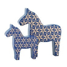 Europe Style Literary Marbled Horse Creative Wood Model Home Decoration Ornaments Accessories Birthday Gifts Fun Toy Craft