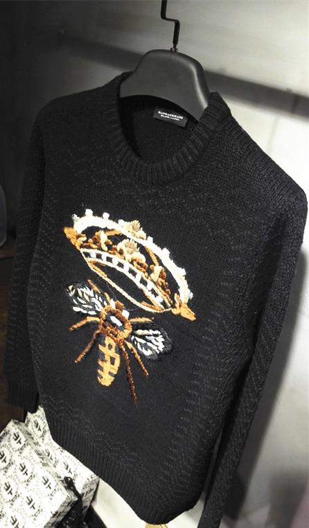 2017 nuevo suéter de abeja grande para hombre-in Pulóveres from Ropa de hombre    2