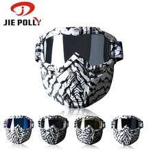 ФОТО jiepolly  motorcycle motocross goggles mask mtb dirt pit bike bmx off road biking sunglasses graffiti detacthable pc frame