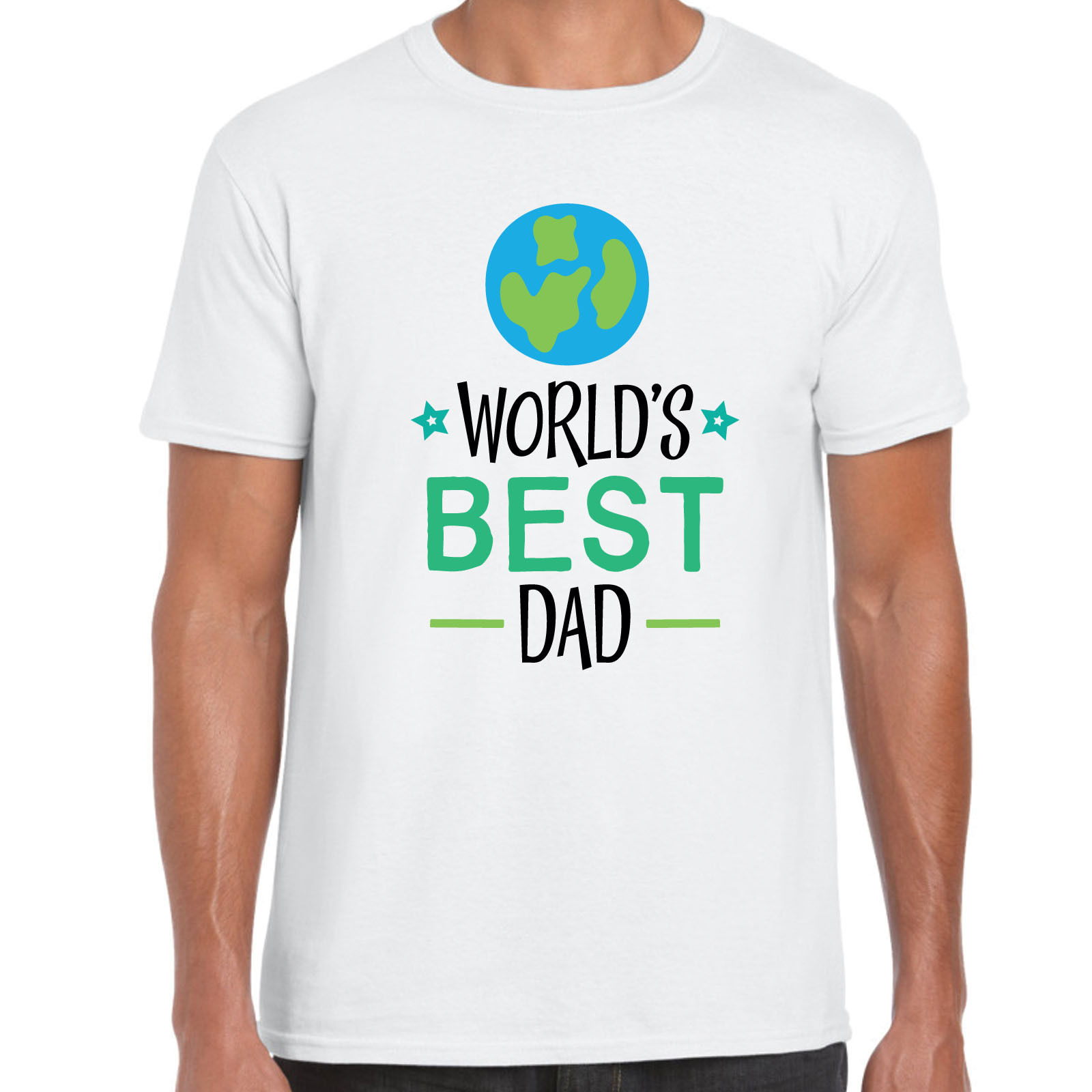 Worlds Best Dad 2 - Mens T shirt - Gift Fun Fathers Day