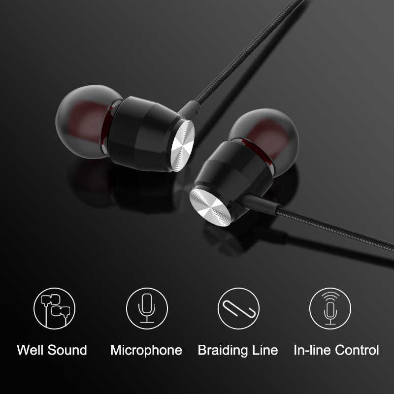 Bass cao Tai Nghe Nhét Tai In-Ear Siêu Trong Kim Loại Nylon Bện Tai Nghe Chụp Tai Tiếng Ồn cô lập Tai Nghe Dành Cho iPhone Xiaomi MP3 MP4 PC