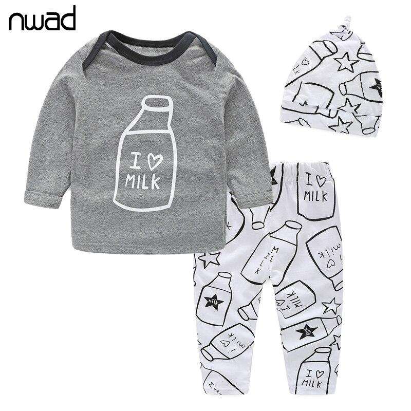 NWAD font b Baby b font Boy Girl Clothing Set Spring Autumn Newborn font b Baby