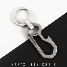 Titanium Men Car Key Chain Creative Ultra Lightweight Real Titanium Keychain Luxury Hanging Key Rings Tool Fathers Day Gifts