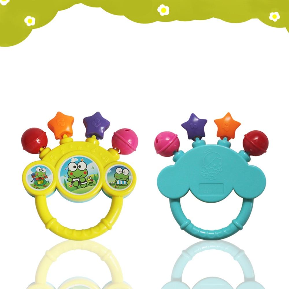 Campana de juguete bebé mano en los juguetes regalo de cumpleaños para bebé cascabel para bebés Shaker juguete