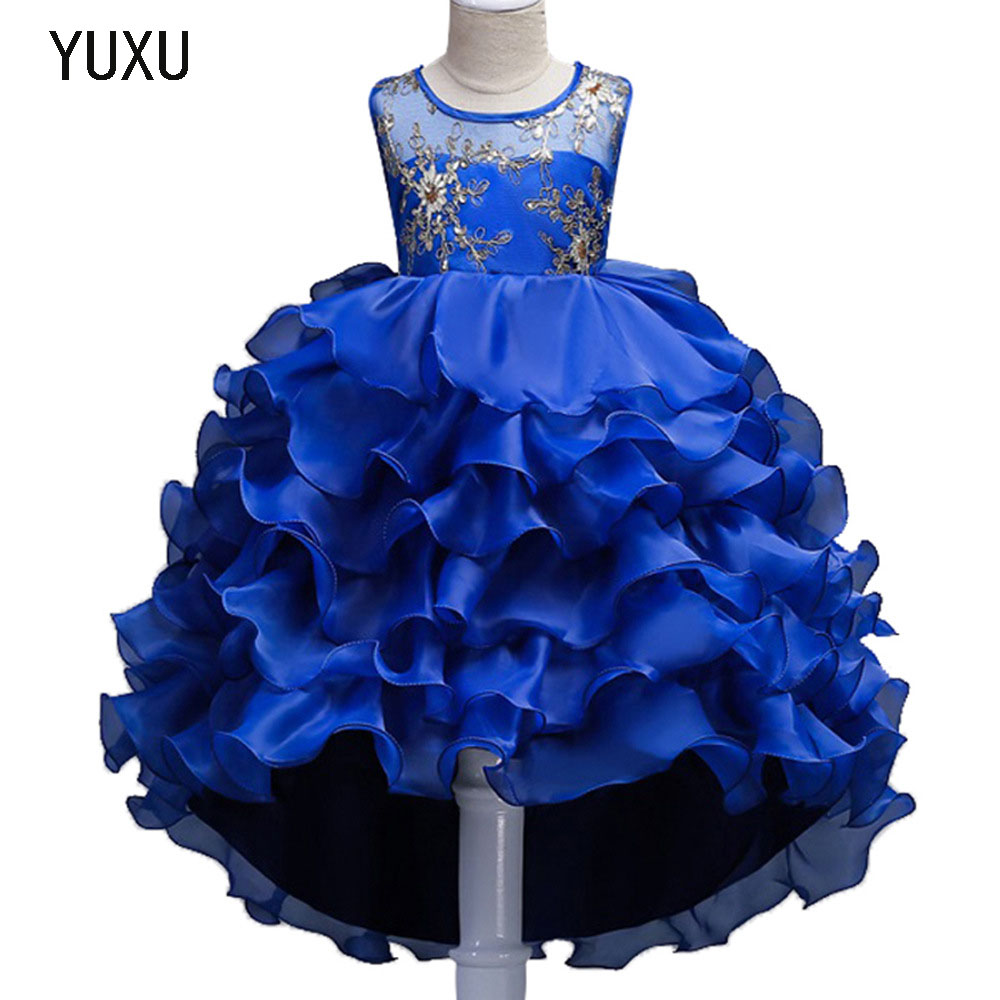 цены newGirls Sleeveless sequin Embroidered Flower Girl Dress Christmas Tutu Flower Girl Dresses Princess Pageant Wedding Party Dress