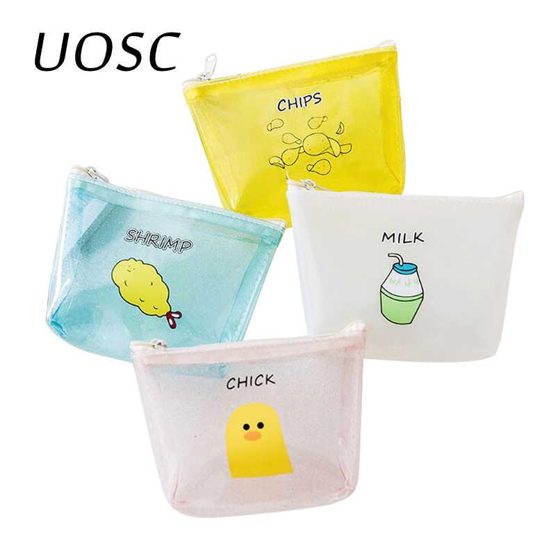 UOSC للجنسين هلام عملات المحافظ 2018 جديد المتناثرة لينة شفافة البسيطة محفظة فتاة العلامة التجارية مربع صغير عملة حقيبة للطلاب محفظة
