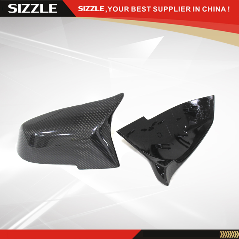 Replacement M3 M4 Look Carbon Fiber Car Side Mirror Cover For BMW 1 2 3 4 X Series F20 F21 F22 F23 F30 F31 F32 F33 F36 X1 E84 f10 side wing rearview mirror cover caps for bmw sedan 11 13 carbon fiber