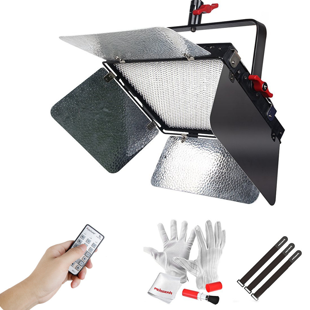Aputure Light Storm LS 1c Studio 1536 Led Bi-Color Dimmable CRI95 Video Light Panel with Specially Designed Sturdy Metal Bracket aputure amaran tri 8s daylight balanced dimmable led video light panel ez box diffuser kit batteries 2 4g remote control v mount