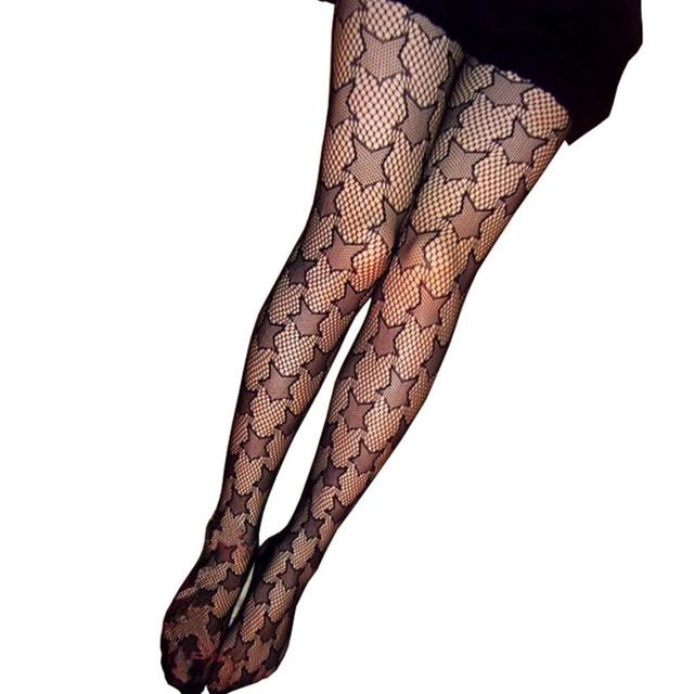40 Hot Sale Sexy Women's Net Fishnet Star Tattoo Patterned Tights New Women's Patterned Tights