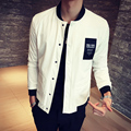 Men's jackets Cotton letter pattern stitching collision color casual Bomber jacket Slim coat autumn high quality Men clothing