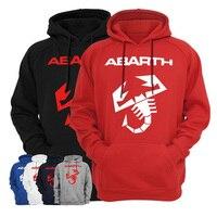 Abarth Scorpion Logo Men Hoodies Sweatshirts Hooded Hoody Casual Apparel Fashion Brand Men S Clothing Tide