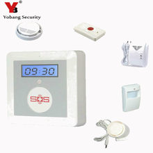 YobangSecurity IOS Android APP Aged Alarm Button Aged Care Alarm with Smoke Fireplace Detector PIR Sensor Siren Gasoline Detector