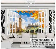 3d murals wallpaper custom The 3 d TV setting wall London Big Ben wallpaper(China)