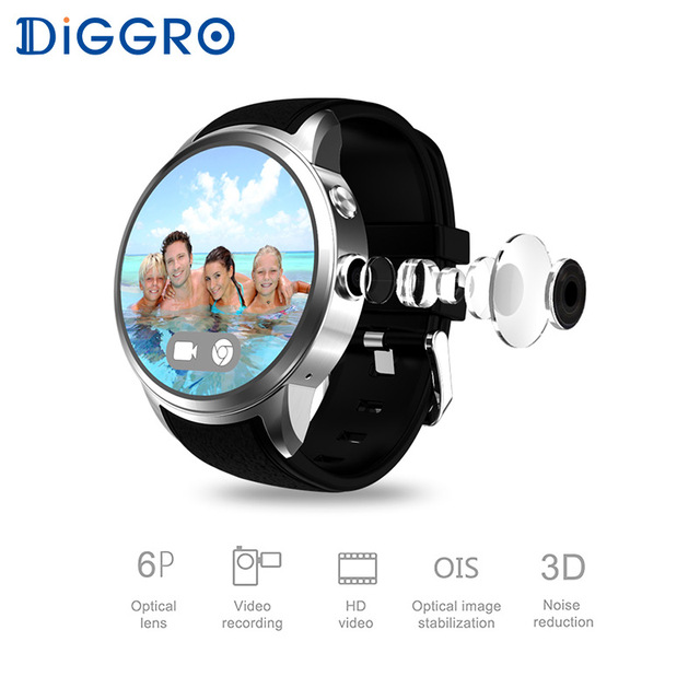 Diggro DI01 Smartwatch Android 5.1 1GB RAM 16GB ROM 3G WIFI GPS Smart Watch Bluetooth 4.0 Heart Rate Wristwatch For Android IOS