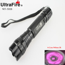 U-F WF-501B 5 W 4-Core 940nm Rayo Infrarrojo LED Flashlight (1×18650)
