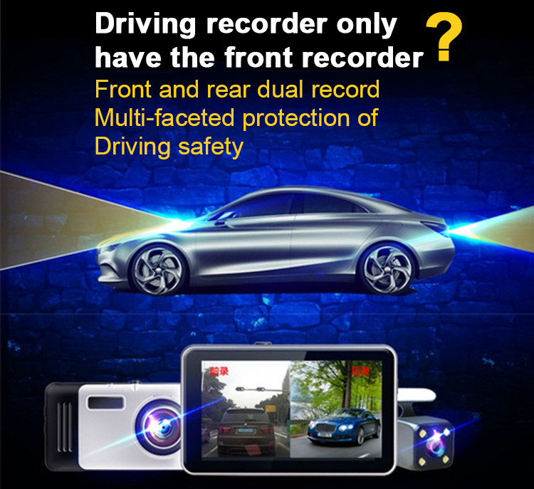Android Car DVR Camcorder dual lens dash cam drive camera GPS Navigation video recorder Full hd 1080p auto registrator dvr wifi 7