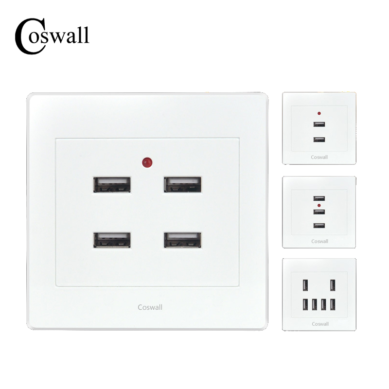 Coswall 2017 Home Useful 2 3 4 6 Ports USB Smart Power...