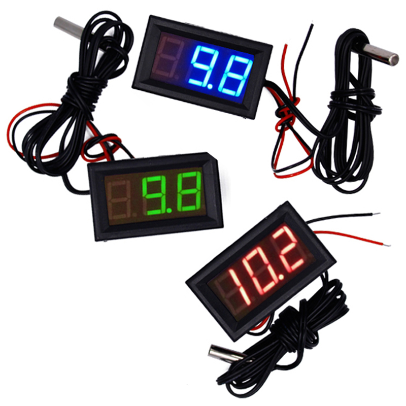 New arrive -50~110°c LED Temperature meter Detector Sensor Probe 12V Digital Thermometer Monitor tester  15%OFF