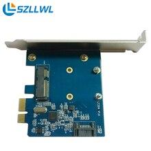 PCIE msata + SATA3.0 карт расширения рабочего твердотельный жесткий диск раздаточная коробка