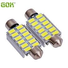 20 шт./лот гирлянда 42 мм светодиодный 5630 5730 12SMD 41 мм Canbus Error Free светодиодный лампочка Белый светодиодные фары для чтения
