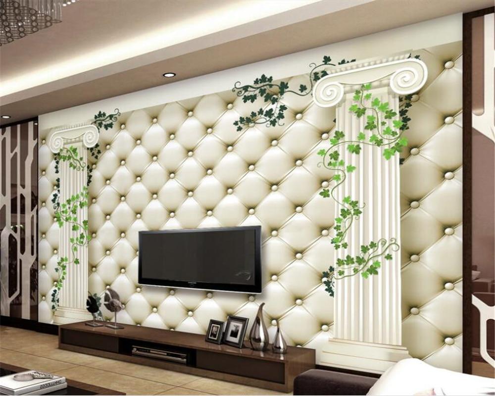 beibehang custom mural wallpaper silk cloth European Roman column ...