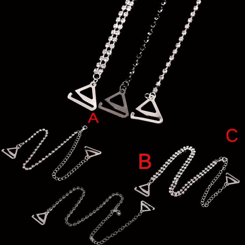 08ee0253aea0d Hot Sale 2Pcs pair Bra Straps 2 Rows Crystal Gorgeous Prom Diamante  Rhinestone Bra Straps