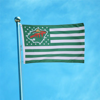 90x150cm USA Minnesota Wild Flag Digital Print Polyester Banner With 2 Metal Grommets Free Shipping