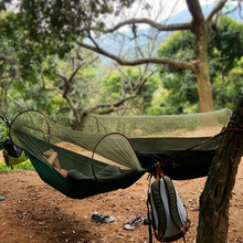 Portable Lightweight Camping Survivor Hammock with Mosquito Net (Carabiners &Ropes Included) Garden Camping Fly Tent
