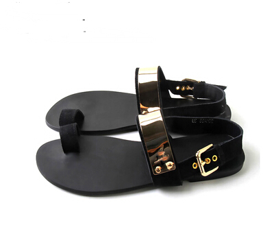 4d0c27b31d1 Male casual sandals summer gladiator 2015 metal fashion leather sandals male-in  Women s Sandals from Shoes on Aliexpress.com