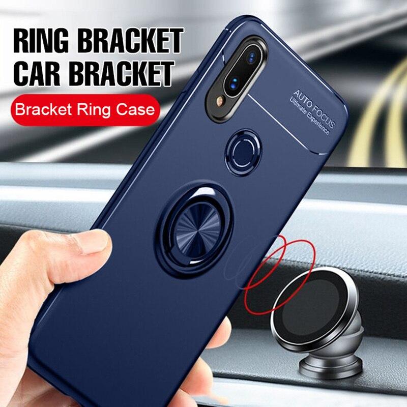 MAODI роскошный Автомобильный кронштейн Кольцо магнитный ТПУ защитный чехол для Huawei p20 Pro Lite mate 20 10 9 Lite Pro Чехол Nova 3 3i 3E чехол