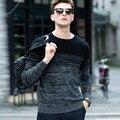 Alta Calidad Suéter de Cachemira de Los Hombres 2016 Marca De Ropa Para Hombre Suéteres de Impresión de Moda Casual de Lana Pullover Hombres Tirón O-cuello Del Vestido T