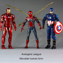 цены 17cm Marvel Toys Avengers 4 Reconstruction 3 Iron Man Spider-Man Captain America Garage Kits doll boy gift