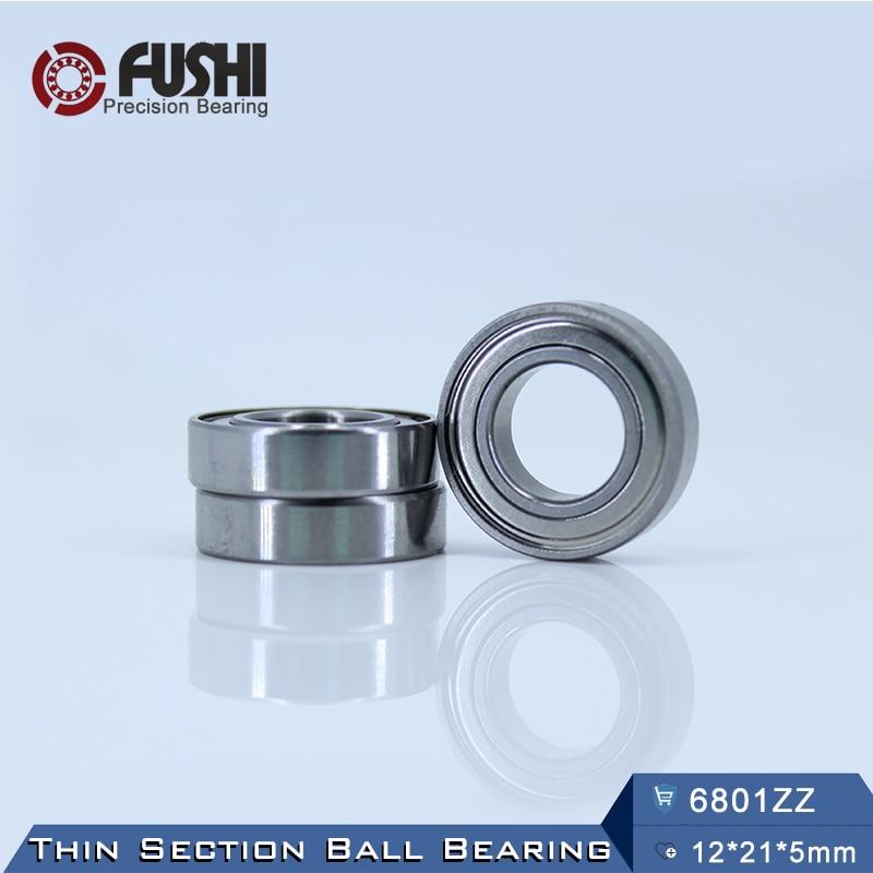 6801zz Bearing Abec 5 10pcs 12 21 5 Mm Metric Thin