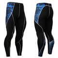 2016 New Men's 3D Print Compression Long Pants Bodybuilding and Fitness Tights Fitness Compression Pants