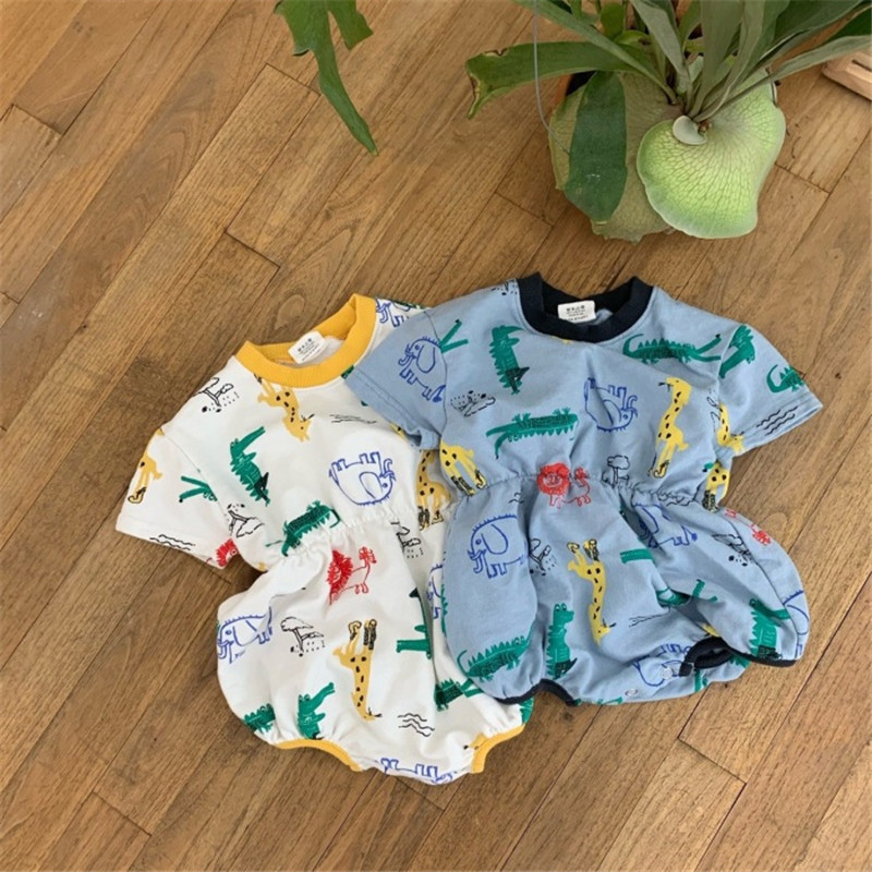 EnkeliBB Cute Baby Summer Clothes Boys Girls Crocodile Romper Lovely Design Baby Romper Boys Clothes For Summer Korean Baby