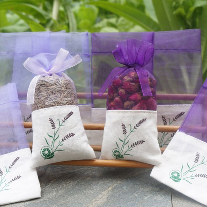 Us 0 61 29 Off Lavender Sachet Empty Bag Mesh Sching Beam Pocket For Storage Dry Flowers Seeds Home Fragrance Sachets Mildew Proofing Item In