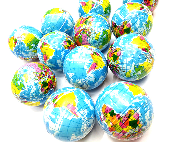MIRUI 10cm School Supplies Globe Floating Globe World Map Teaching Resources Home Office Sponge PU Relaxing Globe Toy Ball