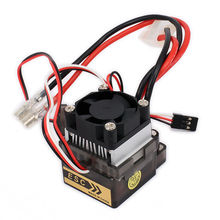 RCAWD Bidirectional 320A Brushed Electrical Speed Controller ESC With Fan For 1/10 RC Car Boat HSP HPI Wltoys Himoto Tamiya