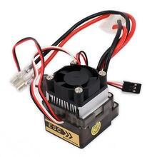 RCAWD CONTROLADOR DE VELOCIDAD eléctrico cepillado, 320A, ESC con ventilador para 1/10 RC, coche, barco, Wltoys, HSP, HPI, Himoto, Tamiya