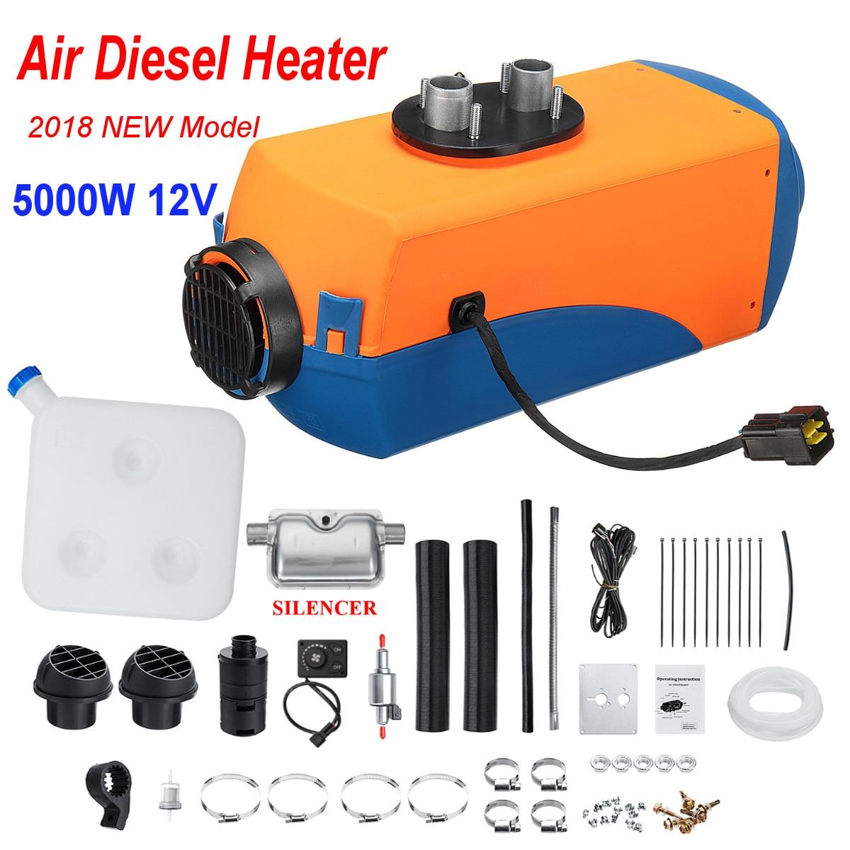 все цены на 5KW diesels Air Heater Planar 5000W 12V For Motorhome Trucks Boats Bus Knob Switch with 1xSilencer онлайн